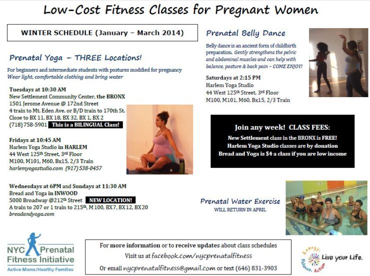 Low Cost Prenatal Fitness - Winter 2013